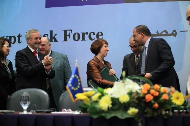 Visit of Catherine Ashton, Antonio Tajani and Štefan Füle to Egypt