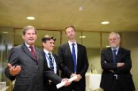 Inauguration of the new premises of the European Spatial Planning Observation Network, with the participation of Johannes Hahn, Member of the EC