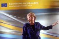 Dialogue avec les citoyens à Thessalonique avec Viviane Reding