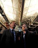 Visit of Johannes Hahn, Member of the EC, on the site of the Città della Scienza, in Naples, damaged by a fire