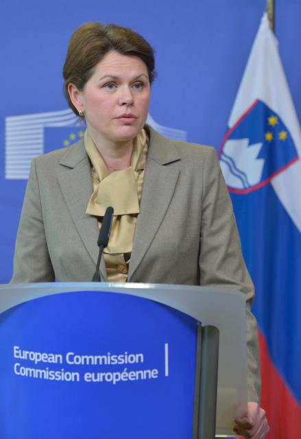 Visit of Alenka Bratušek, Slovenian Prime Minister, to the EC