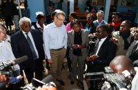 Visite d'Andris Piebalgs, membre de la CE, en Zambie