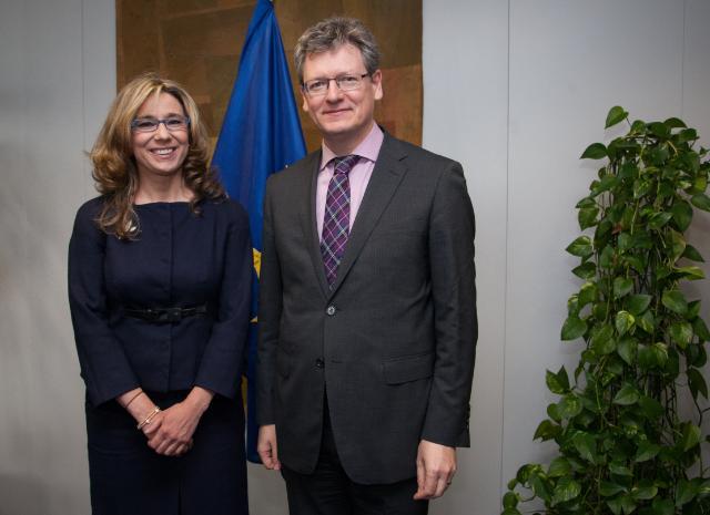 Visite de Cristina Elena Teniente Sánchez, vice-présidente, porte-parole et ministre de l'Emploi, des Entreprises et de l'innovation du gouvernement régional d'Estrémadure, à la CE