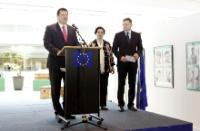 Opening of the exhibition 'Past and future through the eyes of Slovak students' with the participation of Maroš Šefčovič, Vice-President of the EC
