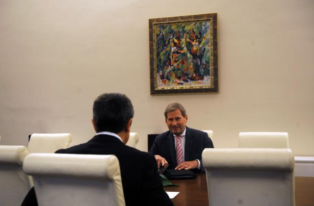 Visite de Johannes Hahn, membre de la CE, en Bulgarie