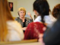 Visit of Viviane Reding, Vice-President of the EC, to the Lycée Hubert Clément in Esch-sur-Alzette