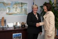 Visit of Elisabeth Aspaker, Norwegian Minister for Fisheries, to the EC