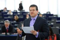 Participation of Maroš Šefčovič, Vice-President of the EC, at the EP plenary session, in Strasbourg
