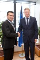 Visite de Zoran Zaev, président de l'Union sociale-démocrate de Macédoine et maire de la municipalité de Stroumitsa, à la CE