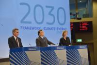 Joint press conference by José Manuel Barroso, President of the EC, Günther Oettinger and Connie Hedegaard, Members of the EC, on the launch of the EU framework on Climate and Energy for 2030