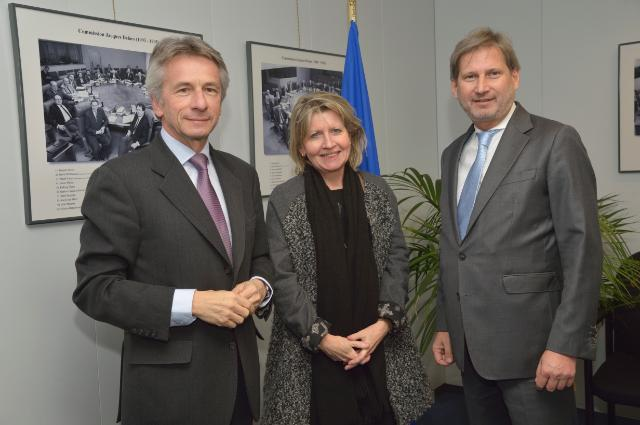Visit of Laurent Beauvais, President of the Regional Council of Basse-Normandie, to the EC