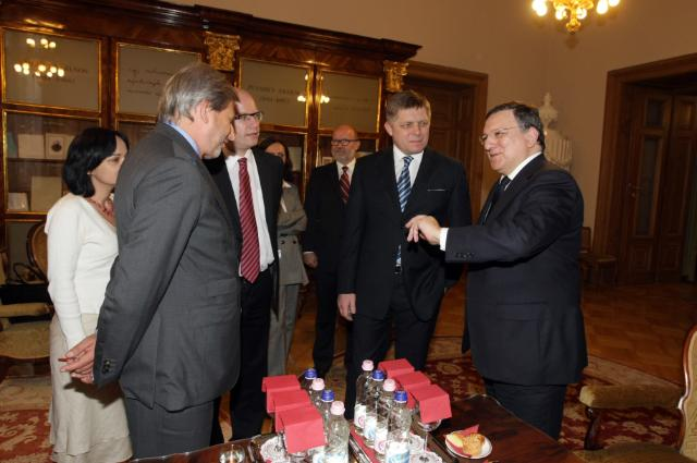 Visit of José Manuel Barroso, President of the EC, and Johannes Hahn, Member of the EC, to Hungary