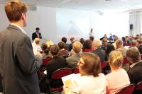 The public attending the meeting of the stakeholders organised as part of the sixth round of negotiations for TTIP between the UE and the United States
