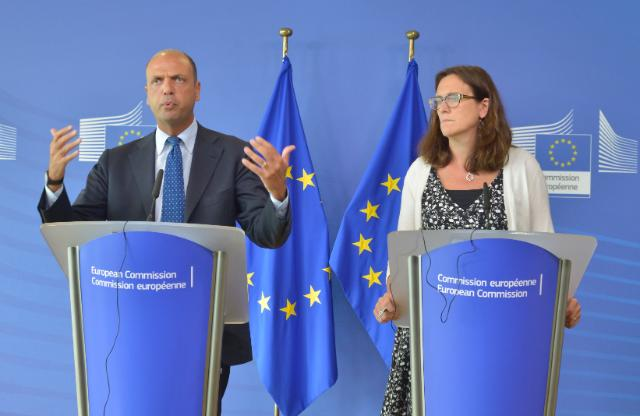 Joint press conference by Angelino Alfano, Italian Minister for the Interior, and Cecilia Malmström, Member of the EC, on migration in the Mediterranean