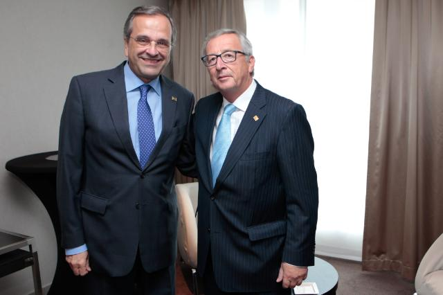 Meeting between Antonis Samaras, Greek Prime Minister, and Jean-Claude Juncker, President-elect of the EC
