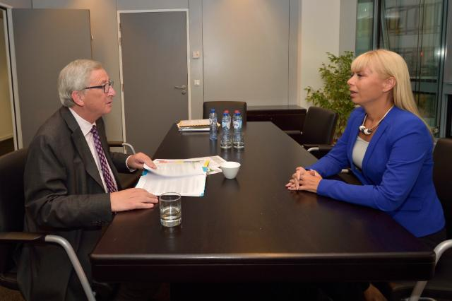 Meeting between Elżbieta Bieńkowska, Polish Deputy Prime Minister and Minister for Infrastructure and Development, and Jean-Claude Juncker, President-elect of the EC