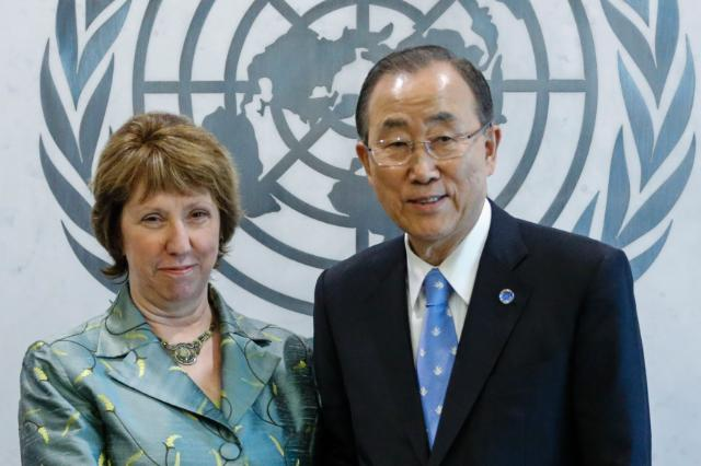 """Illustration of """"Participation of Catherine Ashton, Vice-President of the EC, in the E3/EU+3 nuclear talks in New York"""""""