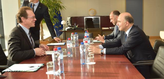 Algirdas Šemeta receives Pierre Moscovici, Member designate of the EC in charge of Economic and Financial Affairs, Taxation and Customs