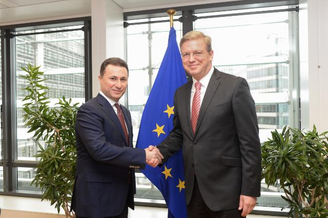Visit of Nikola Gruevski, Prime Minister of the former Yugoslav Republic of Macedonia, to the EC