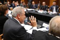 """Illustration of """"Participation of Dimitris Avramopoulos, Member of the EC, at the bilateral meeting between the Justice and..."""