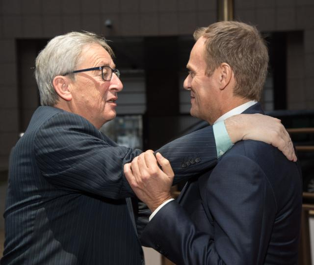 Meeting between Donald Tusk, President of the European Council, and Jean-Claude Juncker, President of the EC