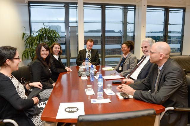 Christos Stylianides receives Tamira Gunzburg, Brussels Director of The ONE Campaign