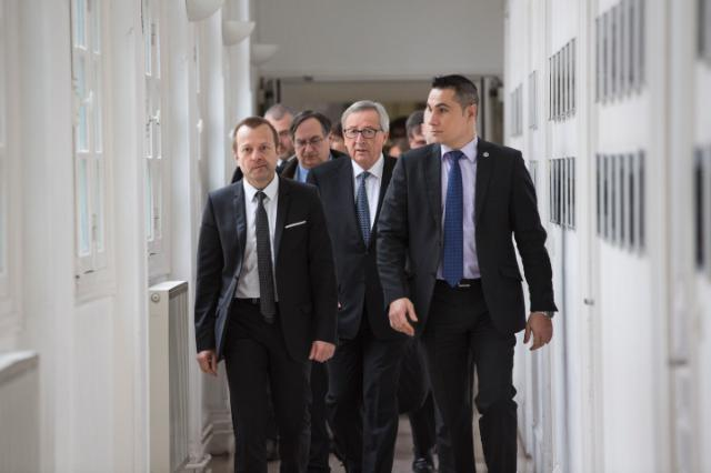 Visit of Jean-Claude Juncker, President of the EC, to France