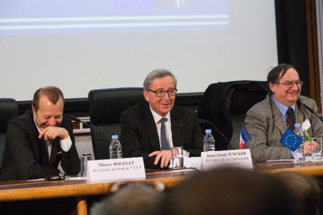 Visite de Jean-Claude Juncker, président de la CE, en France