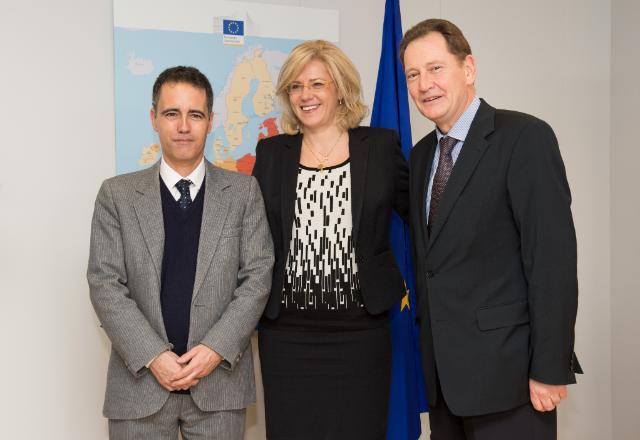 Visite de Joseph Garcia, vice-Premier ministre du gouvernement de Gibraltar, et Graham Watson, ancien membre du PE, à la CE