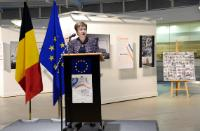 """Illustration of """"Participation of Kristalina Georgieva, Vice-President of the EC, in the opening of the photo exhibition..."""