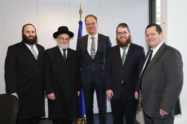Visit of the Members from the European Jewish Association to the EC