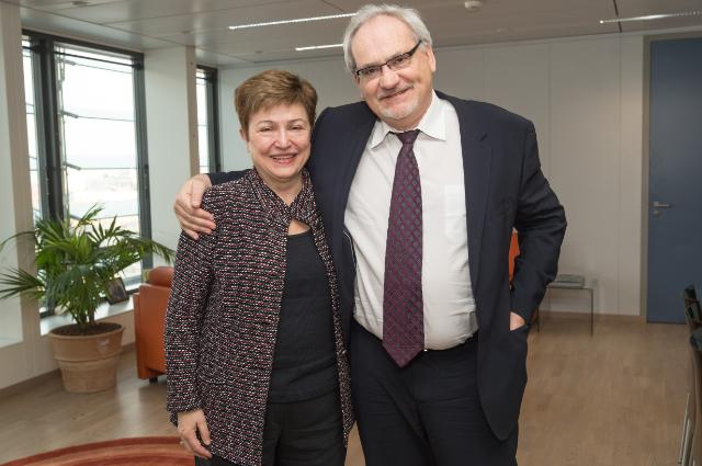 Visit of Philippe Le Houérou, Vice-President of the EBRD, to the EC