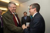 "Illustration of ""Visit of Markku Markkula, President of the CoR, to the EC"""