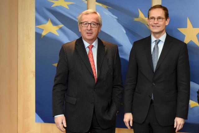 Visite de Michael Müller, maire de Berlin, à la CE
