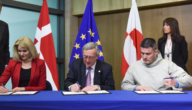 Signing ceremony of a Joint Declaration on the relations between the EU and Greenland