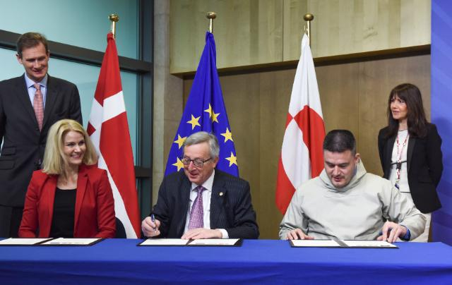 Cérémonie de signature de la déclaration commune sur les relations entre l'UE et le Groenland