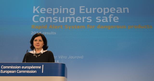 Press Conference by Vĕra Jourová, Member of the EC, following the publication of the 2014 annual report on the RAPEX system