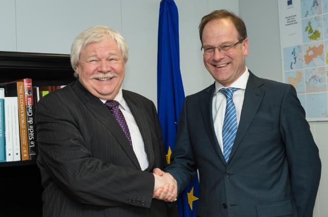 Visit of Horst Hippler, President of German Rector's Conference, to the EC