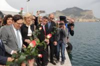 Corina Cretu prepares to launch flowers