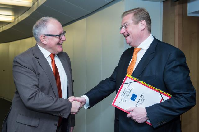Visite d'Ard van der Steur, ministre néerlandais de la Sécurité et de la Justice, à la CE