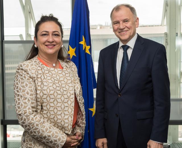 Visite de Kátia Abreu, ministre brésilienne de l'Agriculture, à la CE