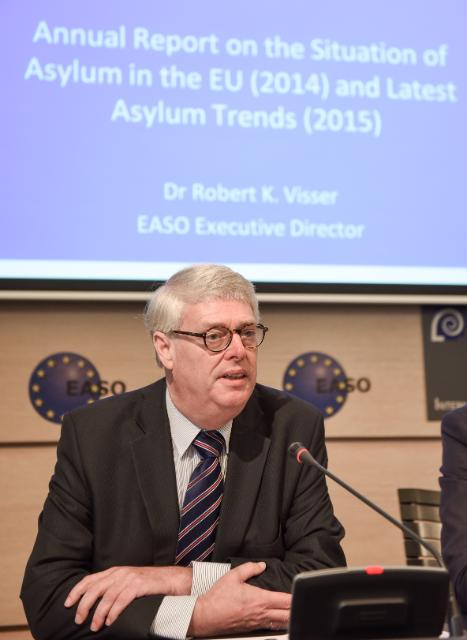Press conference by Rob Visser, Executive Director of EASO, following the publication of the Annual Report on the Situation of Asylum in the EU 2014