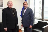 Visite d'Alain Paul Lebeaupin, Nonce apostolique, chef de la mission du Saint-Siège auprès de l'UE, à la CE