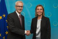 Visite de Jürgen Stock, secrétaire général d'Interpol, à la CE