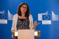 Conférence de presse de Cecilia Malmström, membre de la CE, sur l'accord de libre-échange entre l'UE et le Viêt Nam