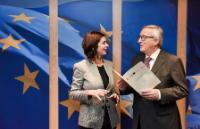 Visite de Laura Boldrini, présidente de la Chambre des députés italienne, à la CE