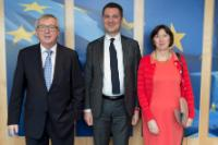 Visit of Luca Visentini, General Secretary of the European Trade Union Confederation, and Frances O'Grady, General Secretary of the British Trades Union Congress, to the EC