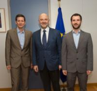 Visit of Pierre Baussand, Director of Social Platform, and Gilberto Pelosi, Advocacy and Policy Officer of Social Platform, to the EC
