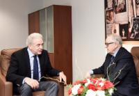 Visite de Martti Ahtisaari, président de la Commission indépendante sur la Turquie, et Albert Rohan, membre de la Commission indépendante sur la Turquie, à la CE