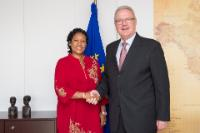 Visit of Neneh MacDouall-Gaye, Gambian Minister for Foreign Affairs, to the EC